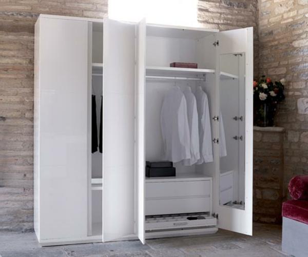 Moderne Kleiderschränke und Garderoben weiß spiegel