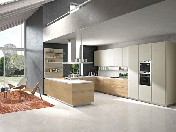 moderne italienische küche bietet einen funktionalen stauraum - Küchen Aus Italien