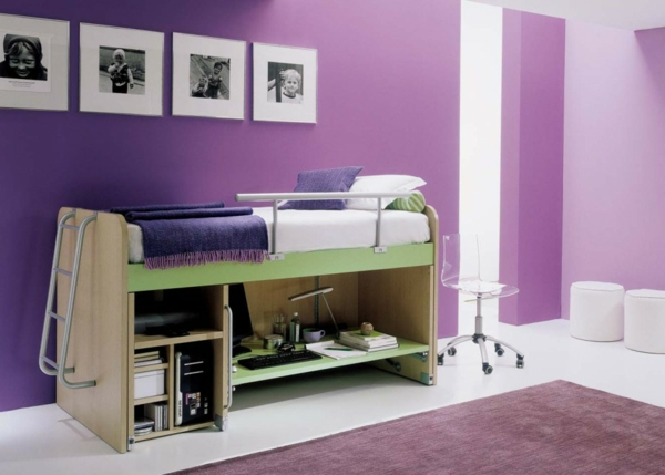 multifunktionales schlafzimmer gestalten f r kleine r ume angebracht. Black Bedroom Furniture Sets. Home Design Ideas
