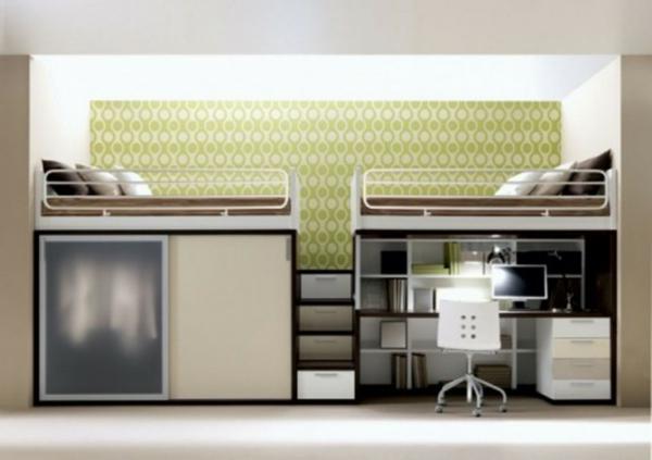 multifunktionales schlafzimmer gestalten f r kleine r ume angebracht. Black Bedroom Furniture Sets. Home Design Ideas