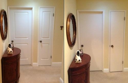 Neue Einrichtungsideen für die Zimmertüren bevor danach