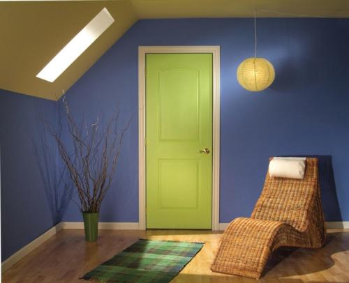 Neue Einrichtungsideen für die Zimmertüren grün frisch