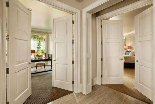 Neue Einrichtungsideen für die Zimmertüren holz weiß