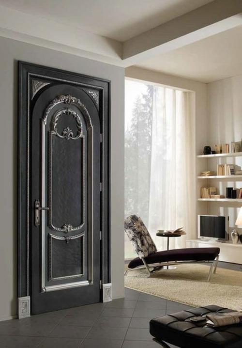 Neue Einrichtungsideen für die Zimmertüren schwarz silbern