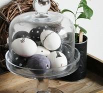 Ostereier in Schwarz-Weiß bemalen – 50 coole Dekoideen