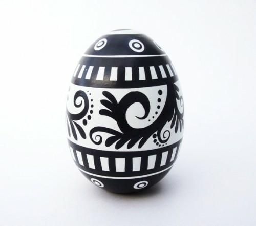 Ostereier in Schwarz Weiß selbstkleber