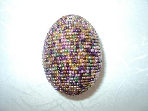Ostereier Perlen verziert originell osterdeko