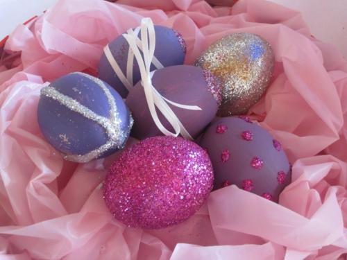 Ostereier  Perlen verziert originell schimern glanz