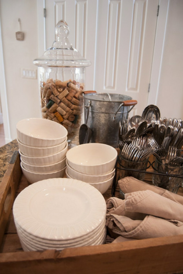 Partydeko und Partyartikel tischdeko schalen keramisch besteck