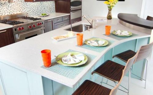 Praktische Einrichtungsideen für Küchen barhocker lehnen