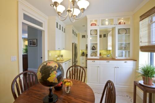 Einrichtungsideen  Küchen esstisch stühle erdkugel