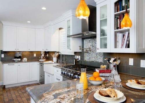 Praktische Einrichtungsideen  Küchen frühstück marmor