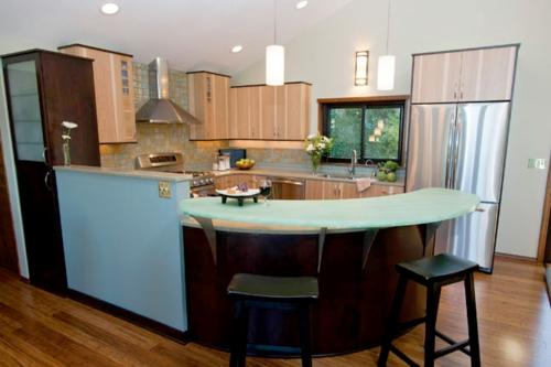 Praktische Einrichtungsideen Küchen hängelampen wand