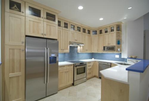 funktional Einrichtungsideen Küchen modern kühlschrank