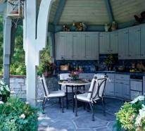Praktische Küche im Garten gestalten