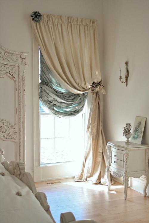 Romantik im Schlafzimmer zum Valentinstag gardinen samt