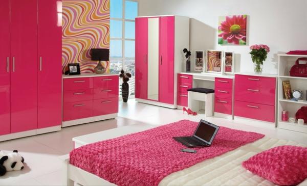 rosa kinderzimmer gestalten - ruhe und sanftheit ausstrahlen - Kinderzimmer Weis Pink