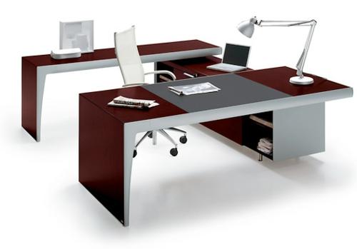 Schreibtische und Computertische dunkel rot tischlampe bürostuhl