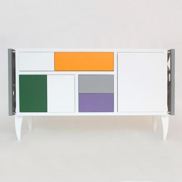 Sideboards kleiderschrank Kommoden grün orange lila