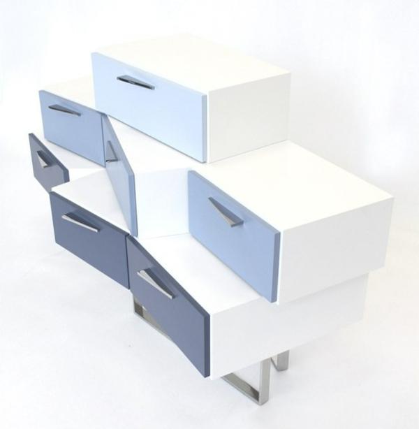 Sideboards und kleiderschrank Kommoden weiß blau