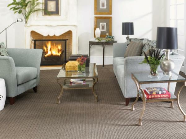 Teppich im Wohnzimmer nebentich platte glas feuerstelle