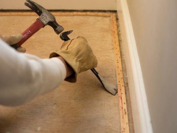 Teppichboden entfernen materialien leisten beseitigen