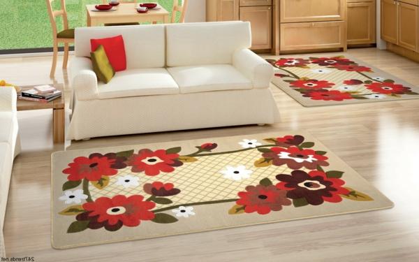 Teppiche und Teppichläufer blumenmuster möbel