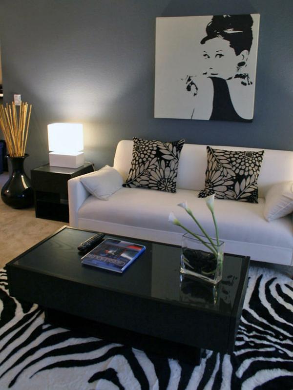 Teppiche und Teppichläufer mode schwarz weiß