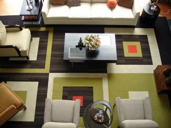 Teppiche und Teppichläufer wohnzimmer kreativ