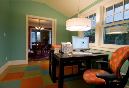 Teppichfliesen mit Stil anordnen büro office sessel