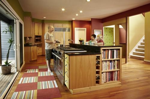 Teppichfliesen  Stil anordnen küche esszimmer treppe