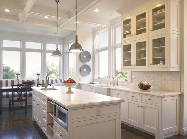 Weisse Landhausküche traditionelle weiße landhausküche 15 coole wohnideen