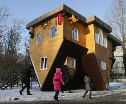 Umgedrehtes Haus In Russland U2013 Erstaunliche Sehenswürdigkeit