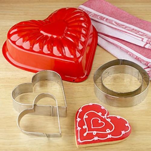 Valentinstag Dekoideen kuchenform plätzchen