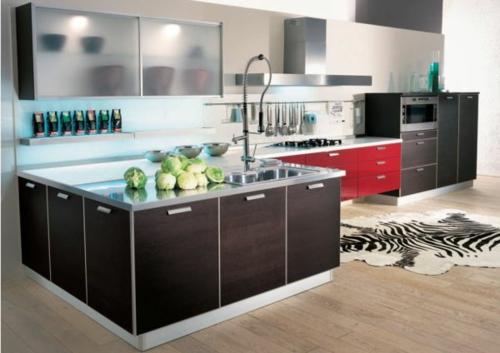 Vitrinenschrank und Glasvitrine ausstellen kücheninsel
