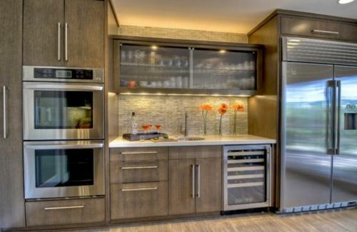 Vitrinenschrank und Glasvitrine ausstellen küchenrückwand