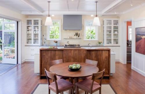 Vitrinenschrank und Glasvitrine ausstellen küchentisch rund