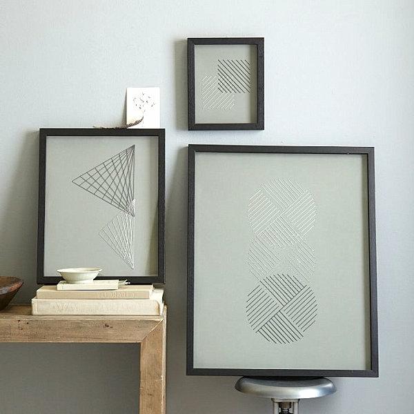 Wanddeko Esszimmer geometrisch wandkunst