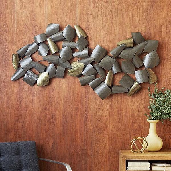 Wanddeko fürs Esszimmer gewunden metallisch töne