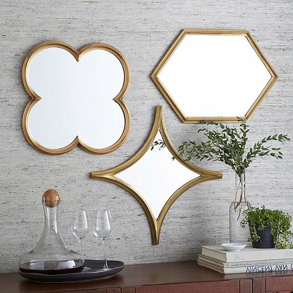 Wanddeko Esszimmer spiegel rahmen originell