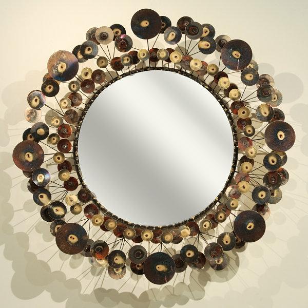 Wanddeko Esszimmer spiegel rahmen regentropf