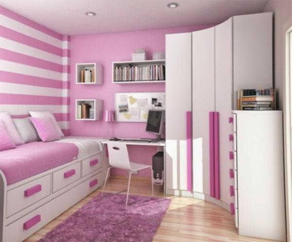 moderne wandgestaltung mit streifen: dekorative wandgestaltung ... - Wohnzimmer Ideen Wandgestaltung Streifen