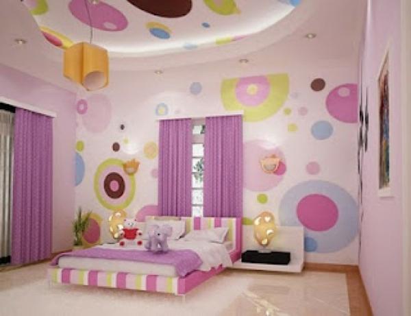 wandgestaltung mit tapeten - Wandgestaltung Mit Drei Farben