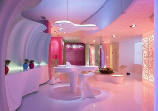 wohnzimmer deko pink:Wohnzimmer Deko blasse farben feminine komfort gemütlich