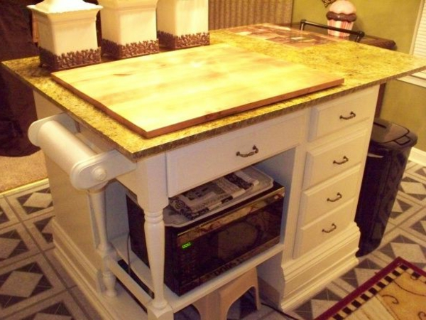 alte Kommode als Küchenblock stauraum klassisch