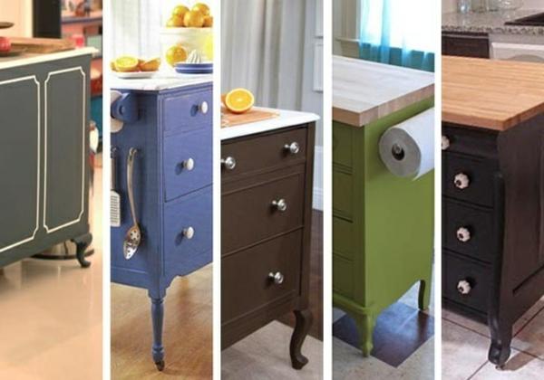 Kommode als Küchenblock verschiedene designs