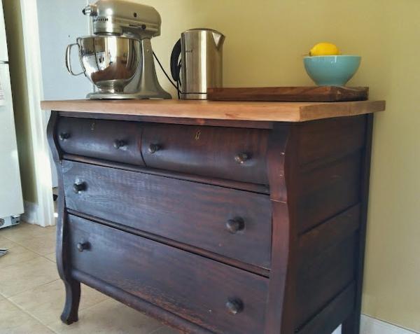 alte Kommode als Küchenblock wunderlich transformation holz