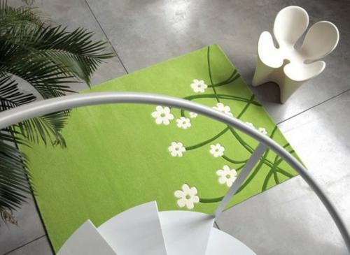 attraktive teppiche  wohnzimmer und kinderteppiche frisch grün