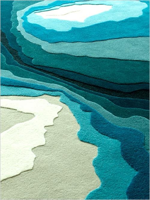 attraktive teppiche für wohnzimmer und kinderteppiche meer blau