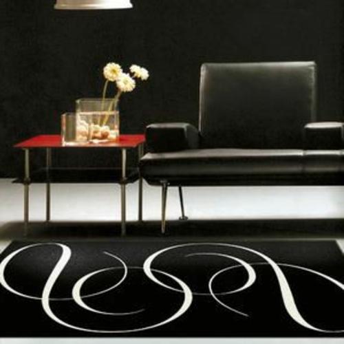 teppiche für  wohnzimmer und kinderteppiche schwarz weiß